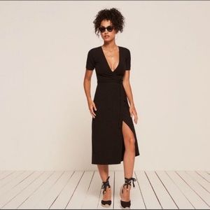 NWT Reformation Britton Dress in Black, Size M